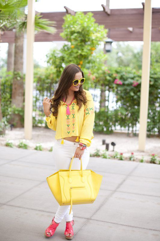 Summer-Fashion-Style-Outfit Inspiration-Celine-Summer Style-Bright-Bold-Color