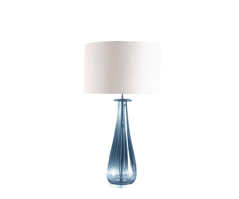 Fulvia Table Lamp Steel Blue Table Lamp Lamp Bases Drum Shade