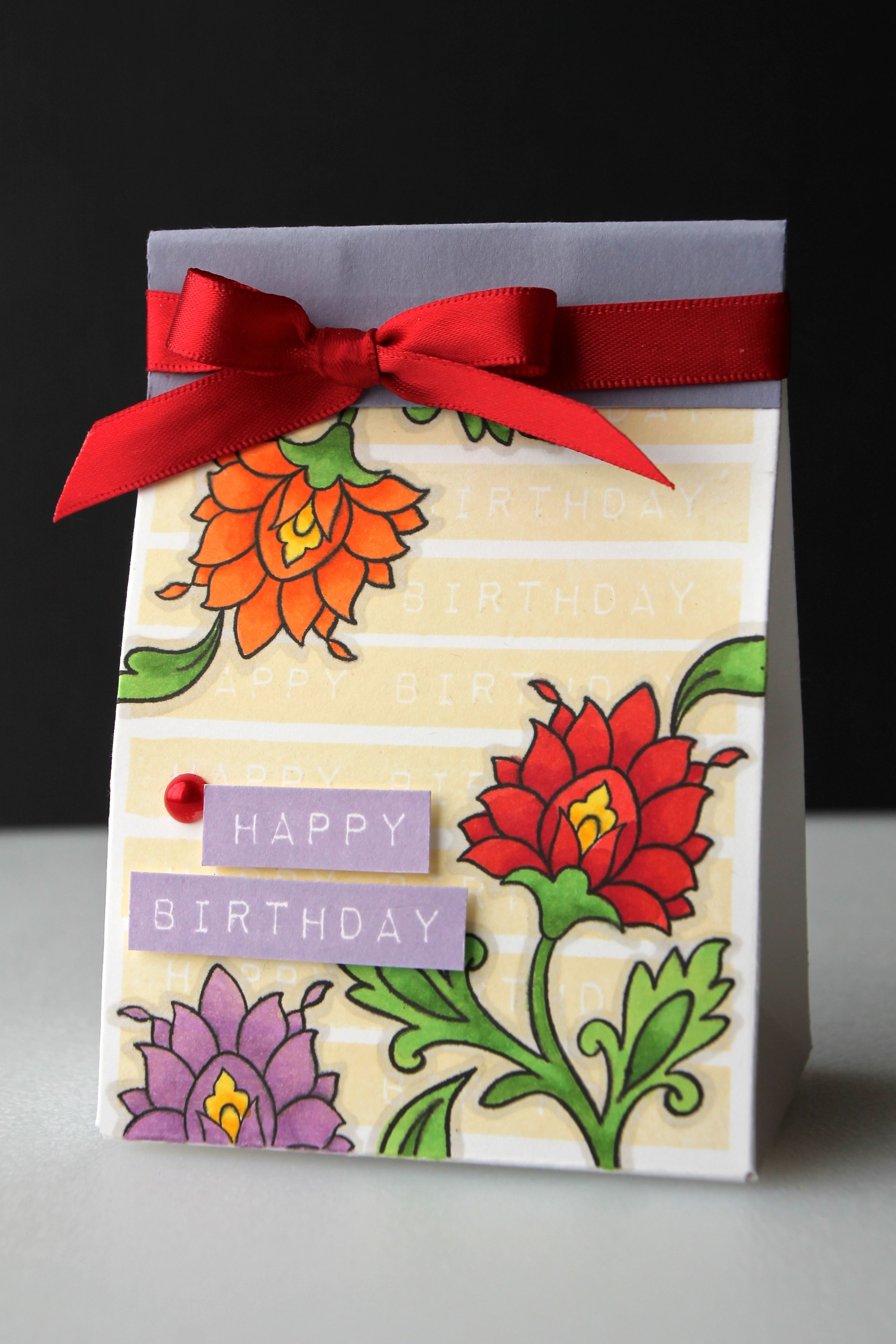 Happy Birthday Card Using The Gorgeous Flowers From Persian Motifs
