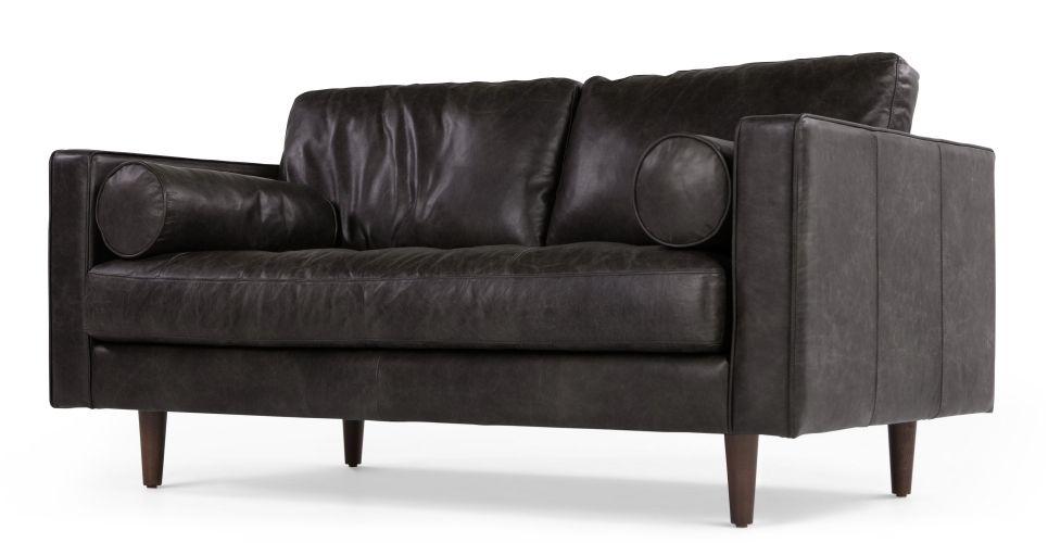 Scott 2 Seater Sofa Vintage Brown Premium Leather Made Com 2 Seater Sofa Sofa Vintage Sofa