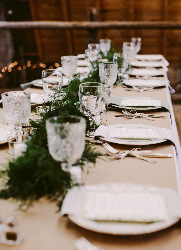 Rustic Colorado Barn Wedding Wedding table decorations