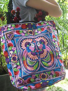 Large Ethnic Embroidered Hobo Bag by Gypsyinstilettos on Etsy, $75.00