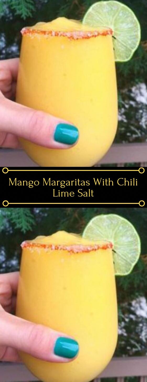 MANGO MARGARITAS #drink #cocktail #mango #margaritas #healthy #healthyholidaycocktails
