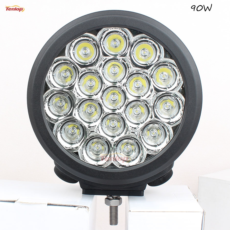 120.00$  Buy here - http://alikpp.worldwells.pw/go.php?t=32766692531 - Light Sourcing SUper Bright 7 Inch 90W Headlight For Offroad SUV ATV Boat Truck 12V 24V
