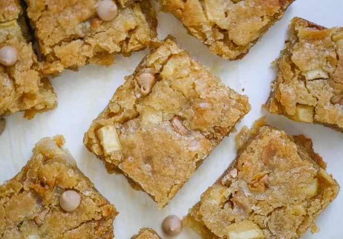 Salted Caramel Apple Blondies Recipe Sweet, salty