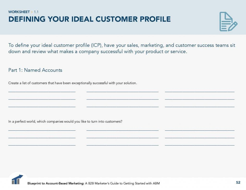 Worksheet How To Define An Ideal Customer Profile For Abm