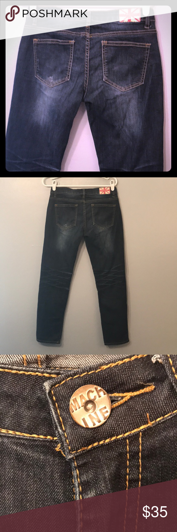 Machine Jeans size 11 skinny jeans Great fitting machine