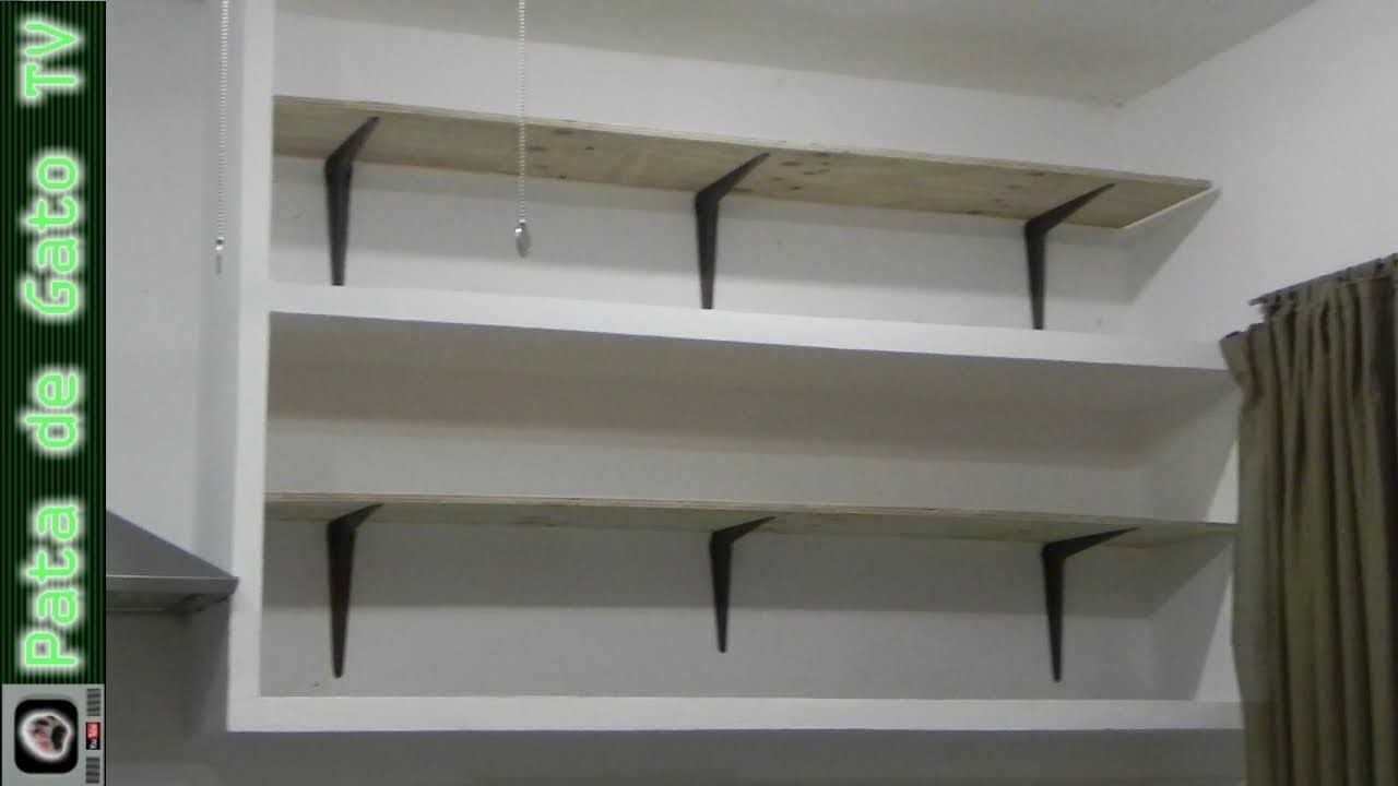 Como hacer e instalar repisas build and install shelves for Repisas recicladas