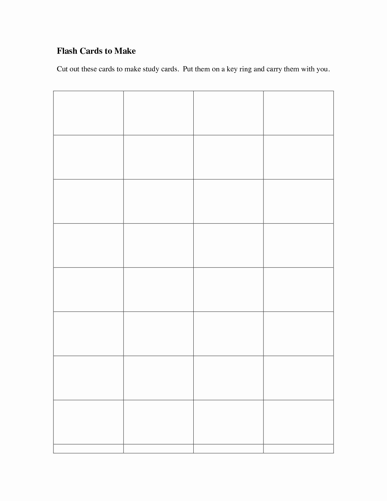 50 Unique Free Printable Flash Card Template In