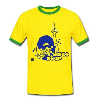 Disco Star T-Shirt. #disco #dance #Spreadshirt #Cardvibes #Tekenaartje #SOLD 'The only way is up'!
