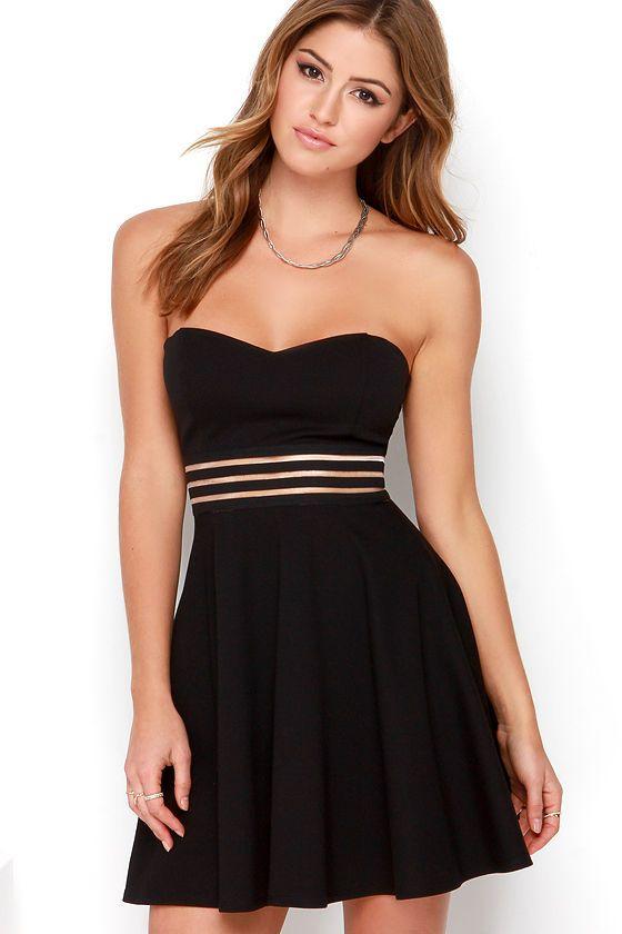 Strapless Skater Dress