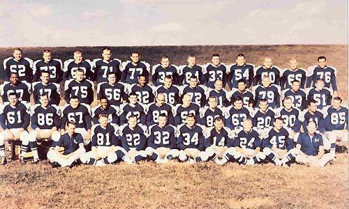 Dallas Cowboys Team First Year 1960 Dallas Cowboys Dallas