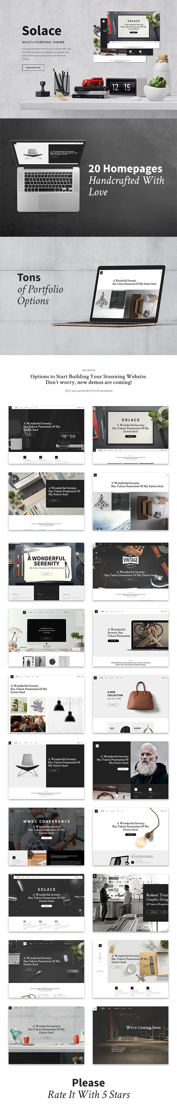 Solace | Highly Flexible Component Based HTML5 Template | Template ...