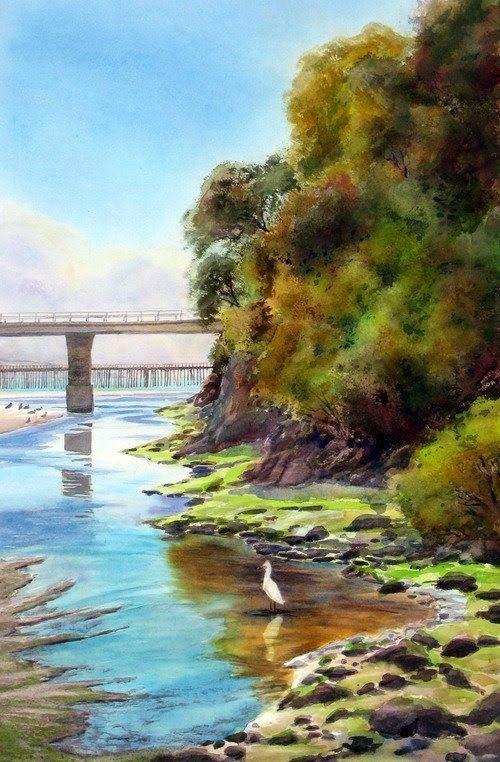 Mouth of Avila Creek by Rosanne Seitz
