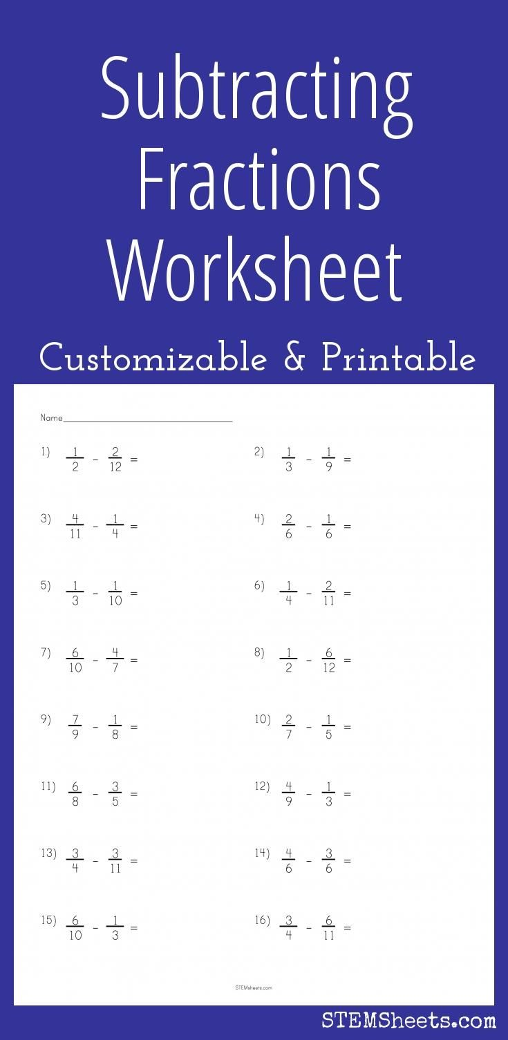 Worksheets On Hygiene Pdf Subtracting Fractions Worksheet  Customizable And Printable  Accounting Equation Worksheet with Positive Affirmations Worksheet A Customizable And Printable Worksheet For Practice Subtracting Fractions  With Like And Unlike Denominators Each Unique Pdf Includes An Answer Sheet Read Theory Worksheets