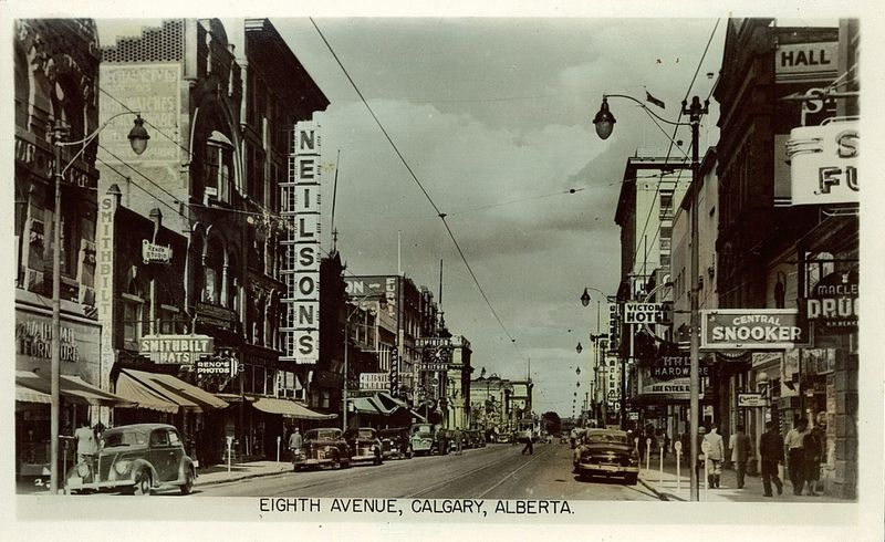 Postcard 5395: Gowen Sutton Co. Ltd, Eighth Avenue, Calgary, Alberta. (cca. 1940)