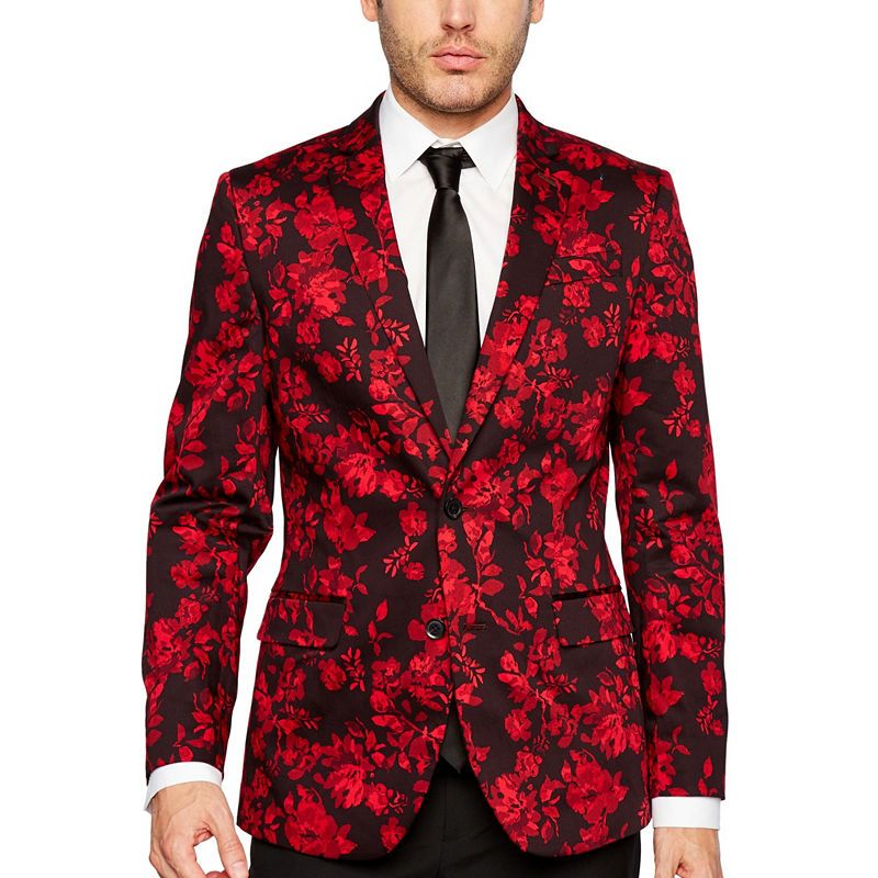 e2ec32025f5e JF J.Ferrar Holiday Red Floral Slim Fit Sport Coat | Products ...