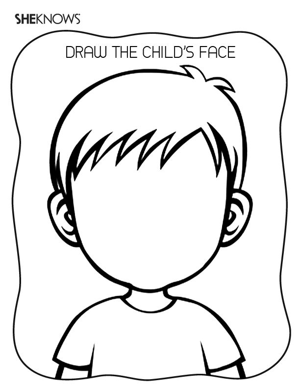coloring pages blank kid kindergarten | Keep kids busy with 51 printable games and activities ...