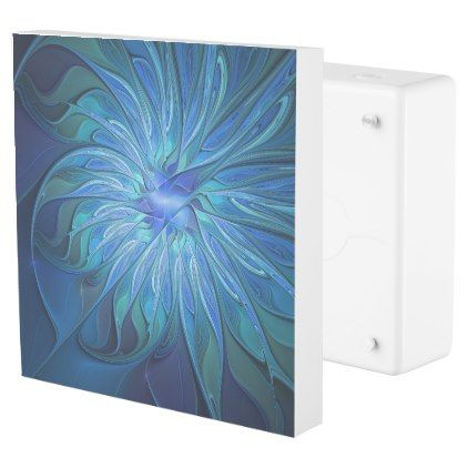 #personalize - #Blue Flower Fantasy Pattern Abstract Fractal Art Outlet Cover