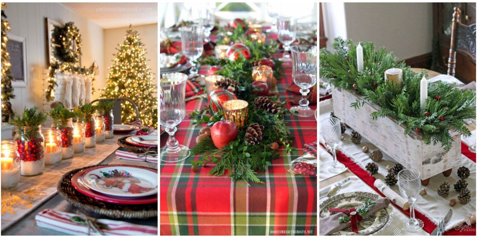 The Best Christmas Table Decorations For All Your Holiday Parties Christmas Table Centerpieces Christmas Table Decorations Christmas Table Settings