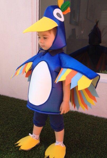 Disfraz de Pajaro para niño Disfraces Creativos 6fcd079a24c