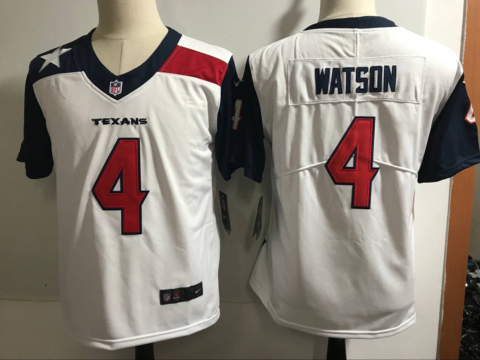 timeless design b039b eb605 Women Houston Texans 4 Watson White Nike Color Rush Limited ...