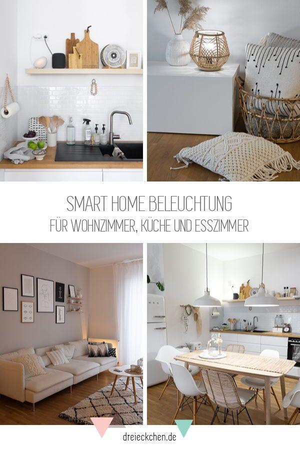 Smart Home Beleuchtung: Ein Lichtsystem für unseren Wohn-Essbereich mit DIY Tischleuchte im Boho Stil // Werbung #esszimmerlampe