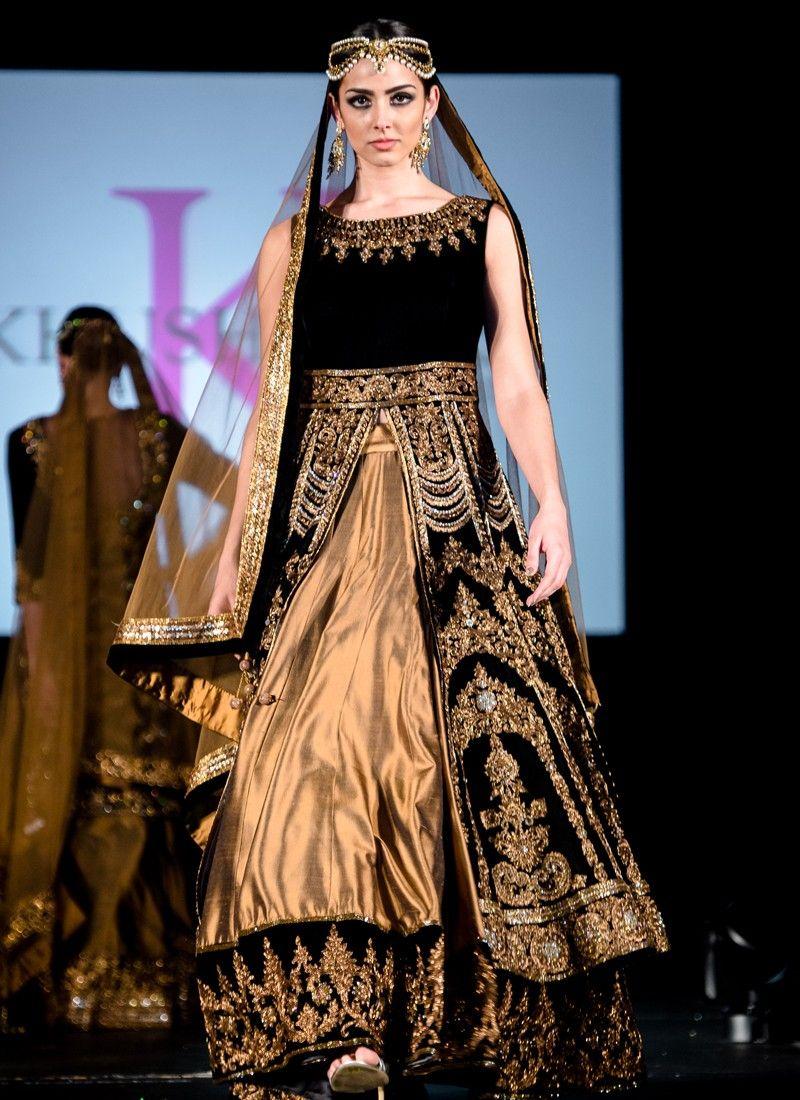 Image result for black gold brocade lehenga