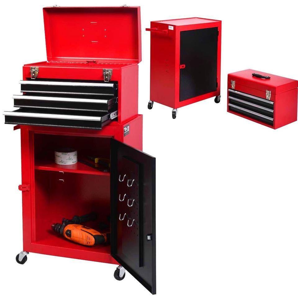 2pc Mini Tool Chest Cabinet Storage Toolbox Tool Box Organization Kayak Storage Rack Tool Chest