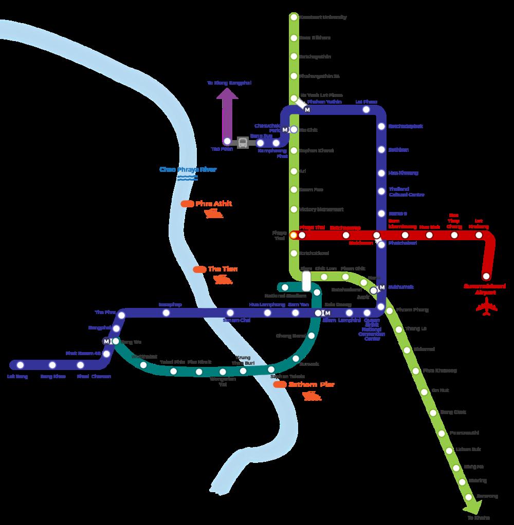 Bangkok BTS And MRT Map Travel Happy in 2020 Bangkok