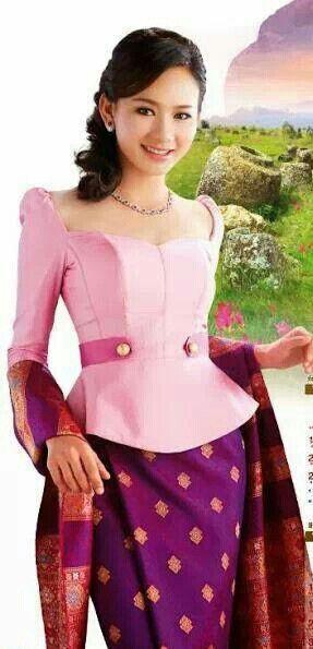 Lao Silk Top Traditional Fashion Silk Laos Kebaya