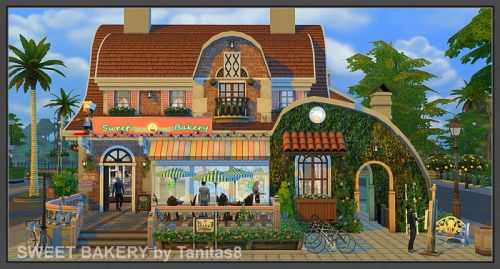 TanitasSims - SWEET BAKERY COMMUNITY LOTS (trade ) lot