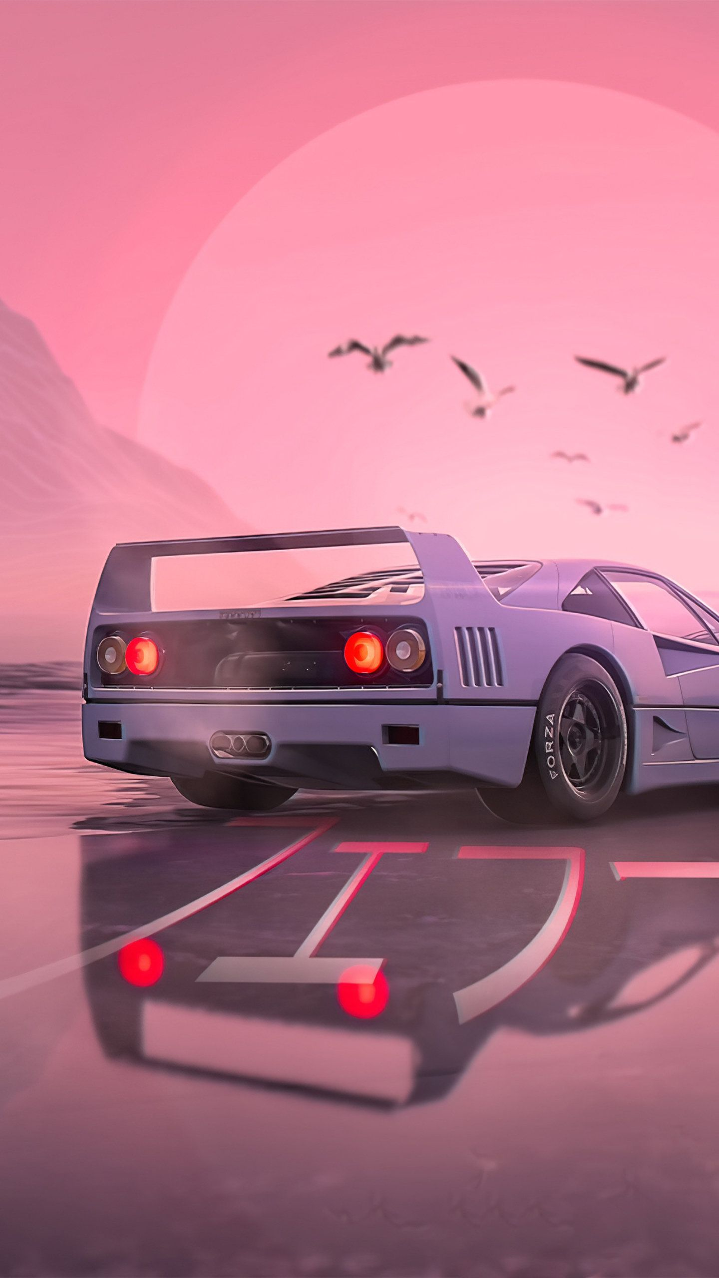 Retrowave Car 4k Hd Cars Wallpapers Photos And Pictures Wallpaper Car Wallpapers Retro Aesthetic