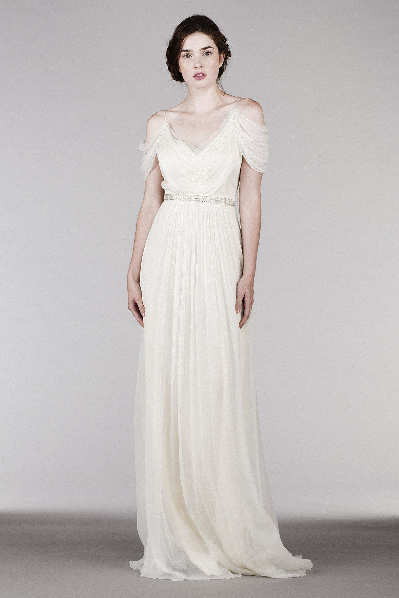 Hb ethereal wedding dress drama romantic and shoulder
