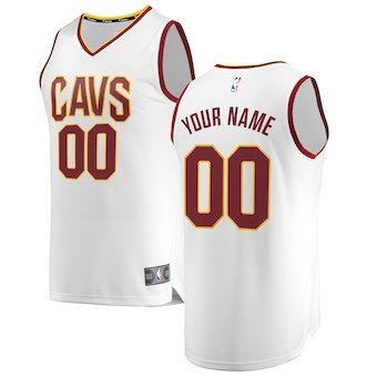 90df517ec Cleveland Cavaliers Fanatics Branded Fast Break Custom Replica Jersey White  - Association Edition