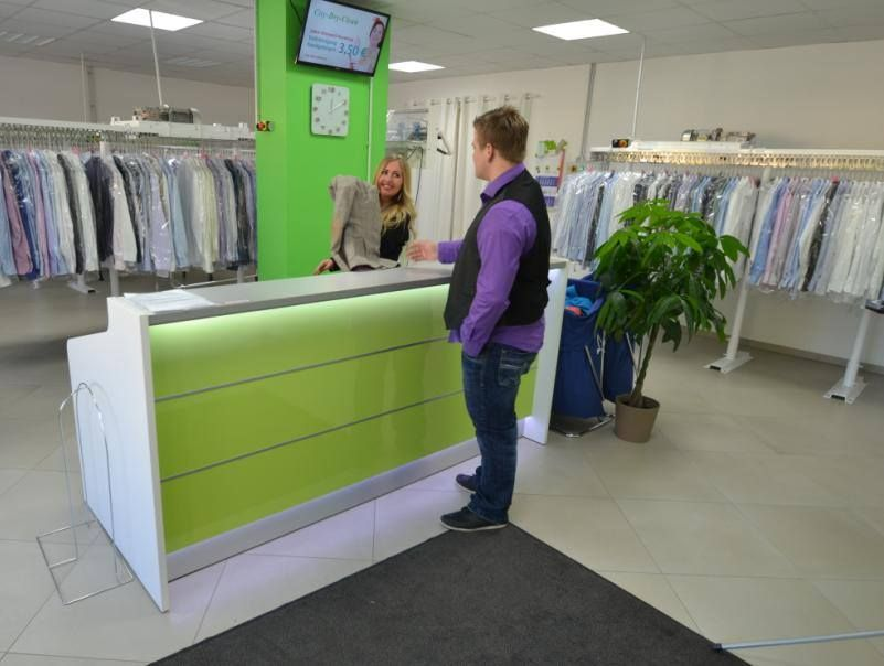 Remarkable Green Valde Reception Desk In City Dry Clean In Munich Interior Design Ideas Tzicisoteloinfo