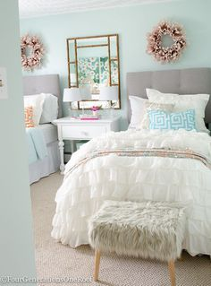 Looking To Create A Sophisticated Teenage Girl S Bedroom We Re Particularly Fond Of This Girls Paint Colors Makeover