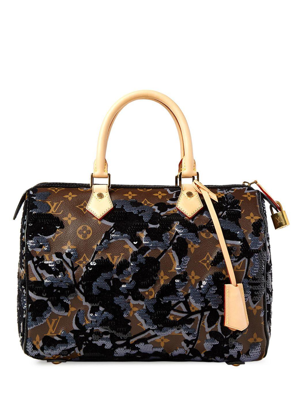 Louis Vuitton - Louis Vuitton Monogram Fleur De Jais Sequins Eclipse Speedy  30 Bag 4a9af9536bf2c