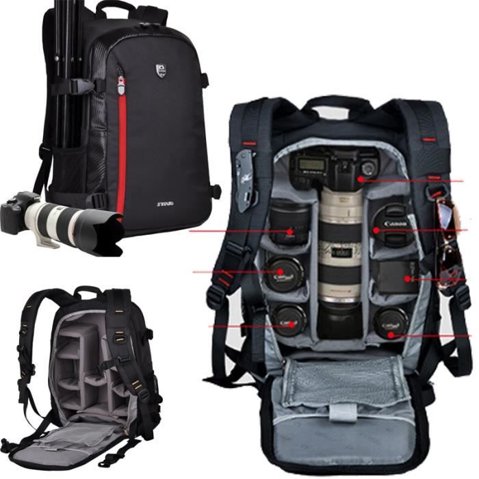 SAC PHOTO noir sac a dos appareil photo reflex imperméable