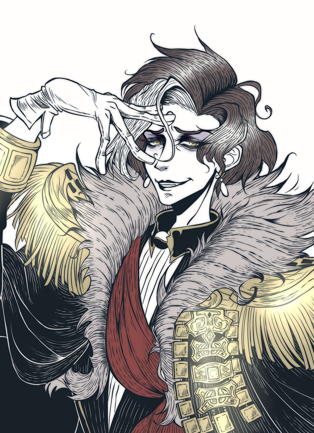 Ff14 Art Emet Selch By Evilcolours On Twitter Ffxiv Art Sketches Humanoid Sketch