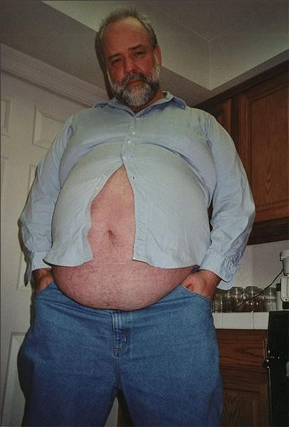 Rather valuable chubby oldermen belly