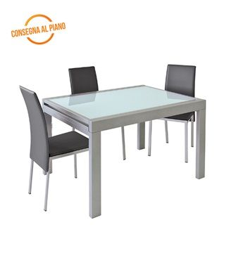 Tavolo In Vetro Bianco Allungabile.Tavolo Slot 120 Shiny Allungabile In Vetro Bianco Casa