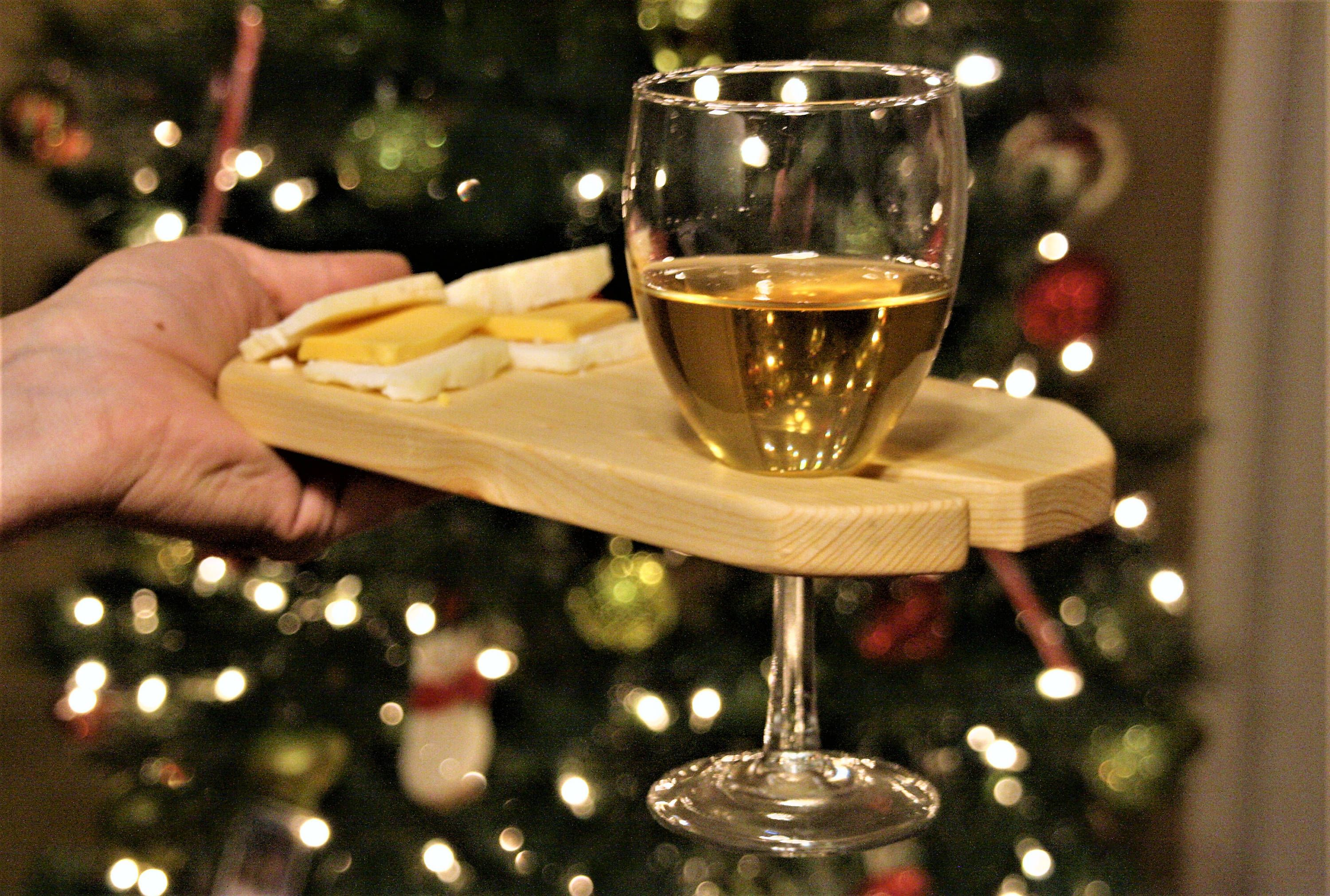 Set Of Wine And Cheese Boards Wood Cheese Board Set With Wine Glass