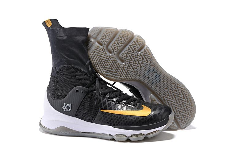 6a28b1698b33 Nike KD 8 Elite  Away  Black Metallic Gold-Sail Men s Basketball ...