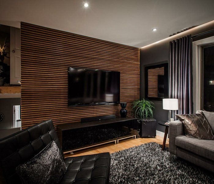 Creative Wall Design Wood Paneling Interior Decoration Ideas Horizontal Accent Walls In Living Room Modern Living Room Black Wood Slat Wall