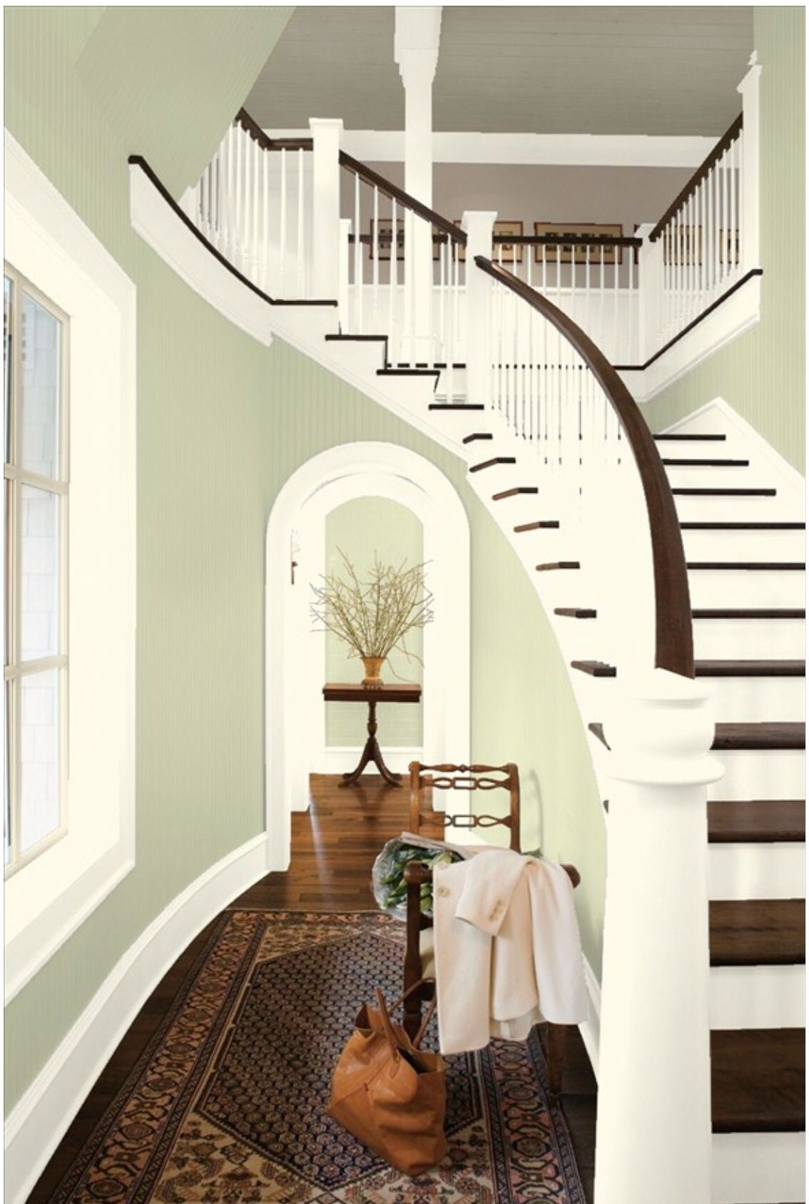 Entryway Paint Colors Benjamin Moore Guildford Green Color Of The Year Stairccase  Home