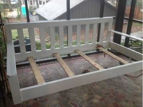 Diy Frame Idea For Daybed Swing Modify The Sides Arms Porch
