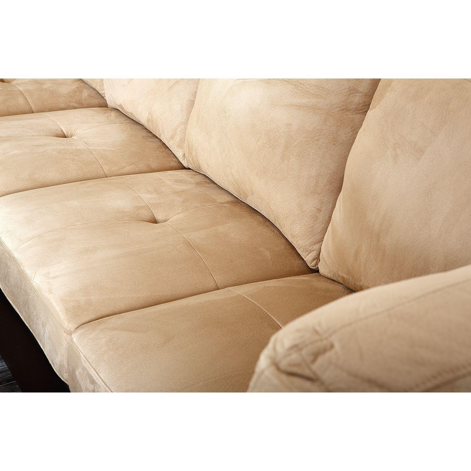 Charlotte Beige Sectional Sofa And Ottoman Dark Brown Beige