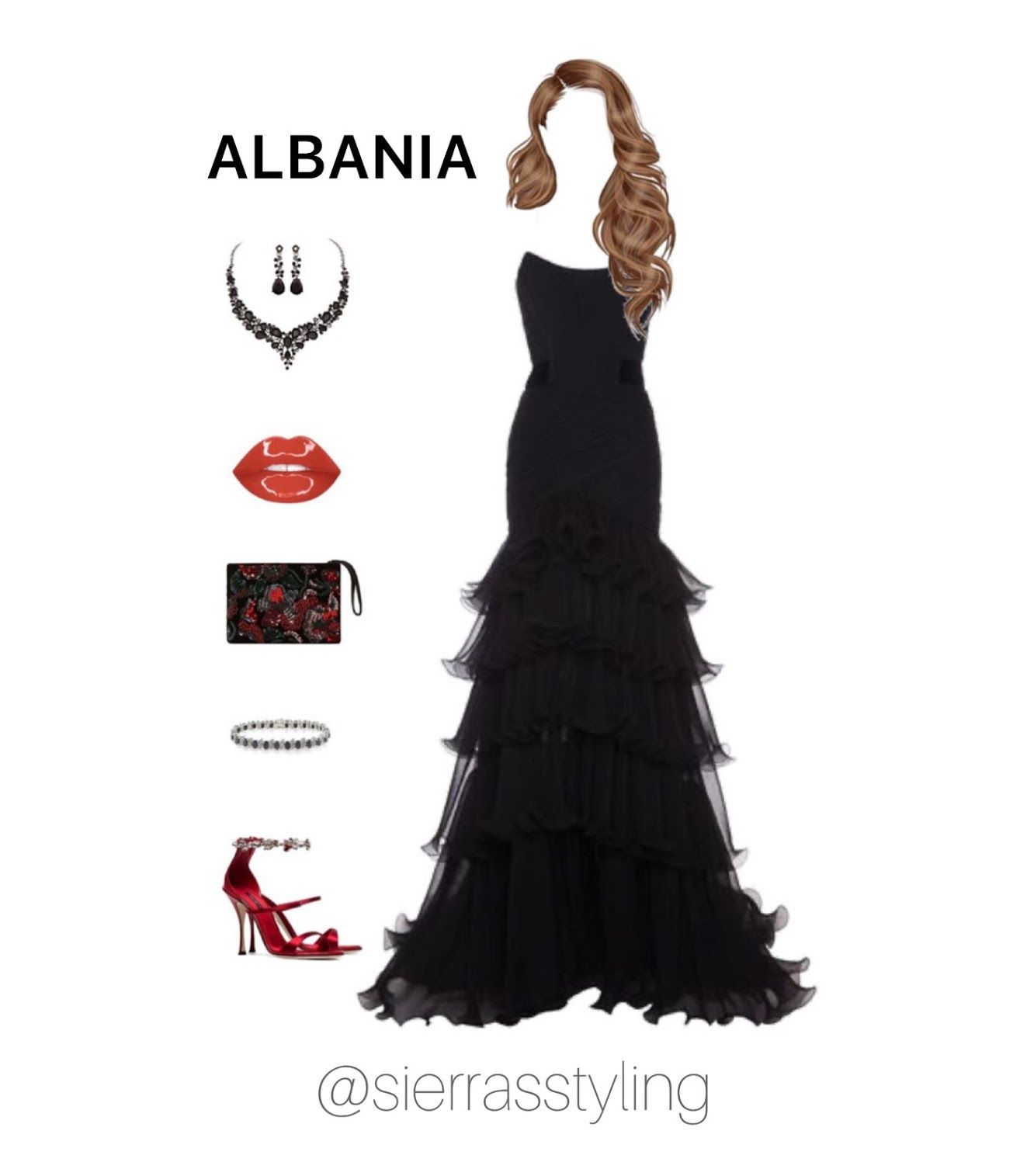 Albania Dress With Accessories [ 1515 x 1323 Pixel ]