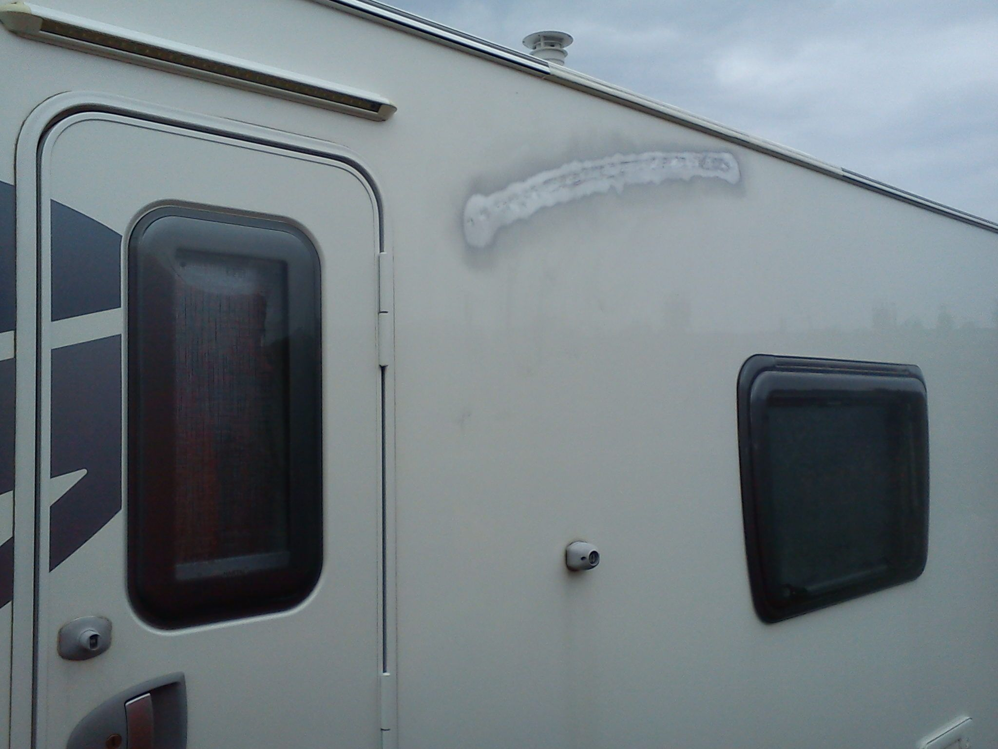 caravan awning rail damage caravans small spaces pinterest